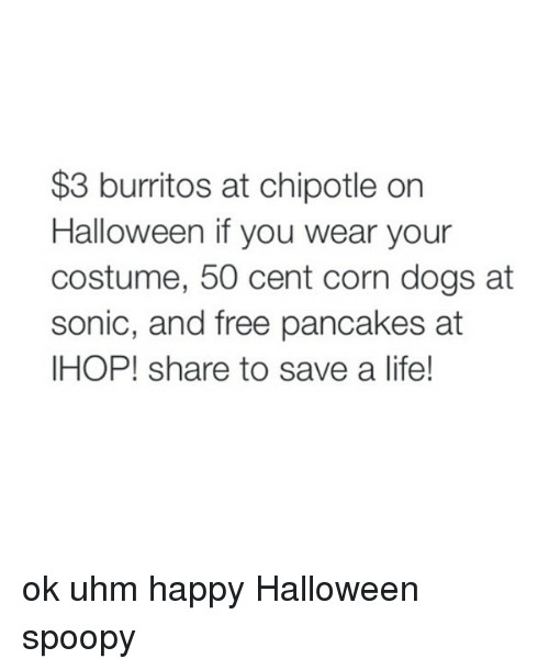 Chipotle 3 Dollar Burritos Halloween  25 Best Memes About Sonic