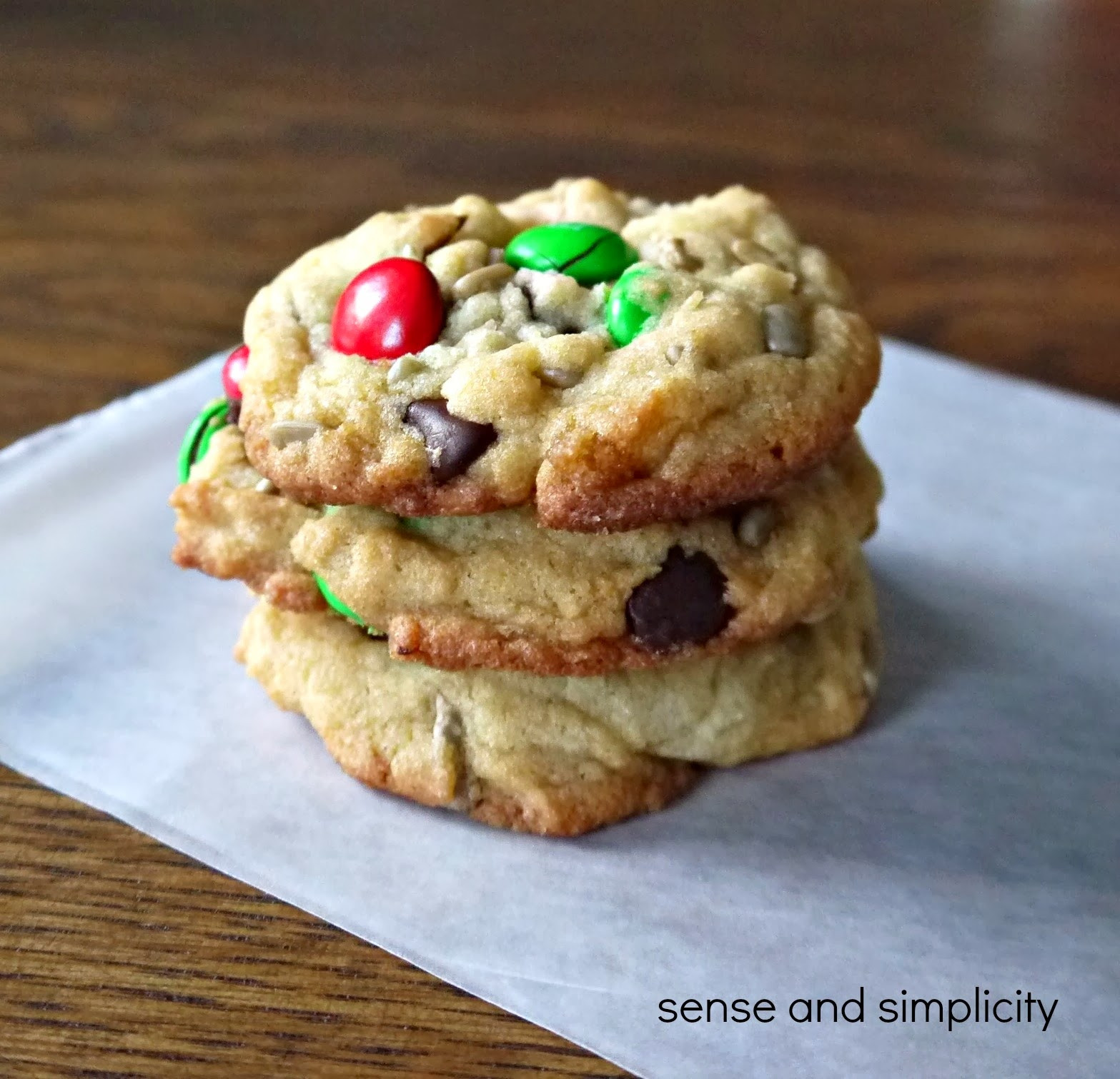 Chocolate Chip Christmas Cookies  Sense and Simplicity Christmas Cookie Week M&M