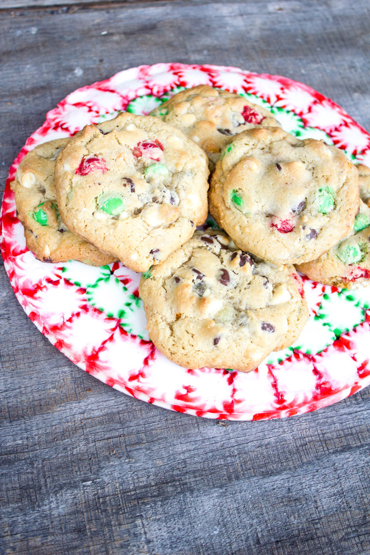 Chocolate Chip Christmas Cookies  Loaded Festive Chocolate Chip Christmas Cookies