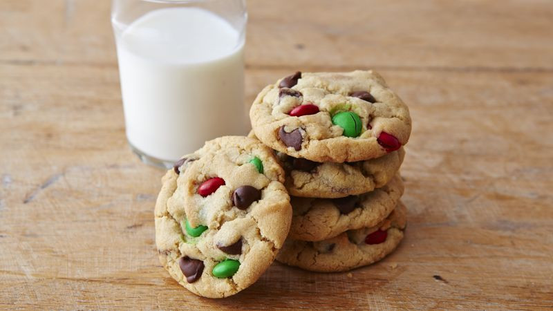 Chocolate Chip Christmas Cookies  Chocolate Chip M&Ms™ Christmas Cookies Recipe