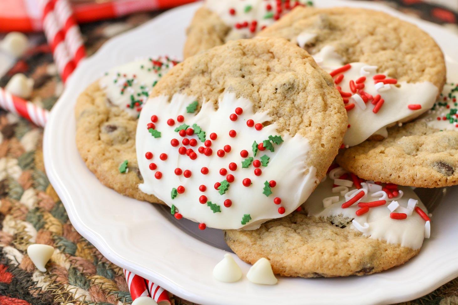 Chocolate Chip Christmas Cookies  Christmas Chocolate Chip Cookies Beyond Easy To Make