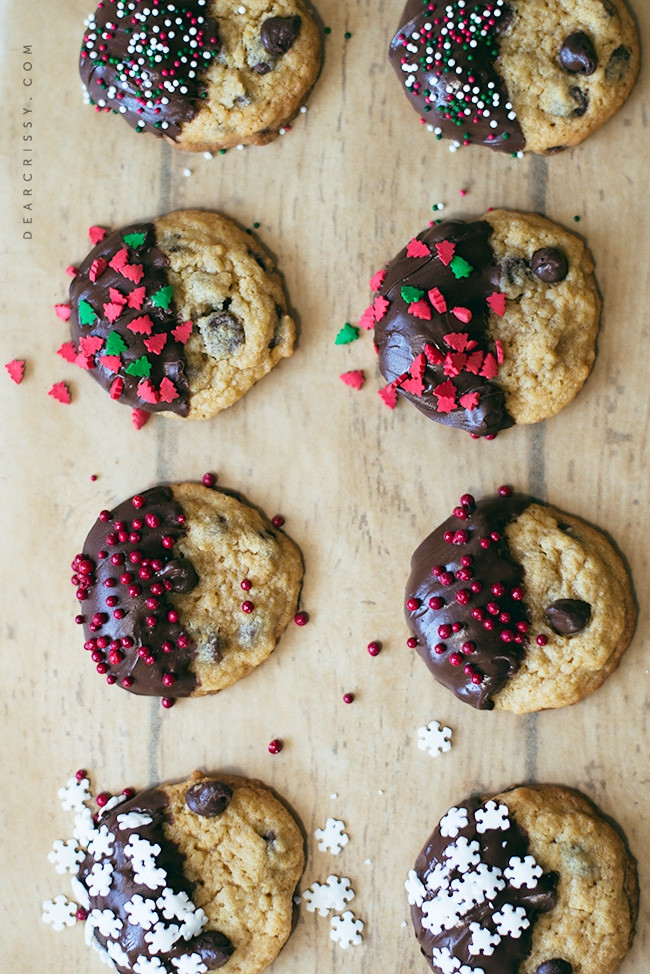 Chocolate Chip Christmas Cookies  Chocolate Chip Christmas Cookies