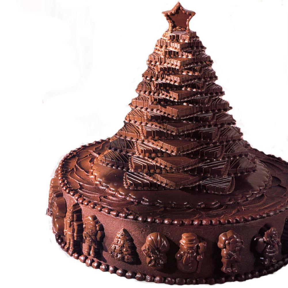 Chocolate Christmas Cake  Chocolate Christmas Tree Cake