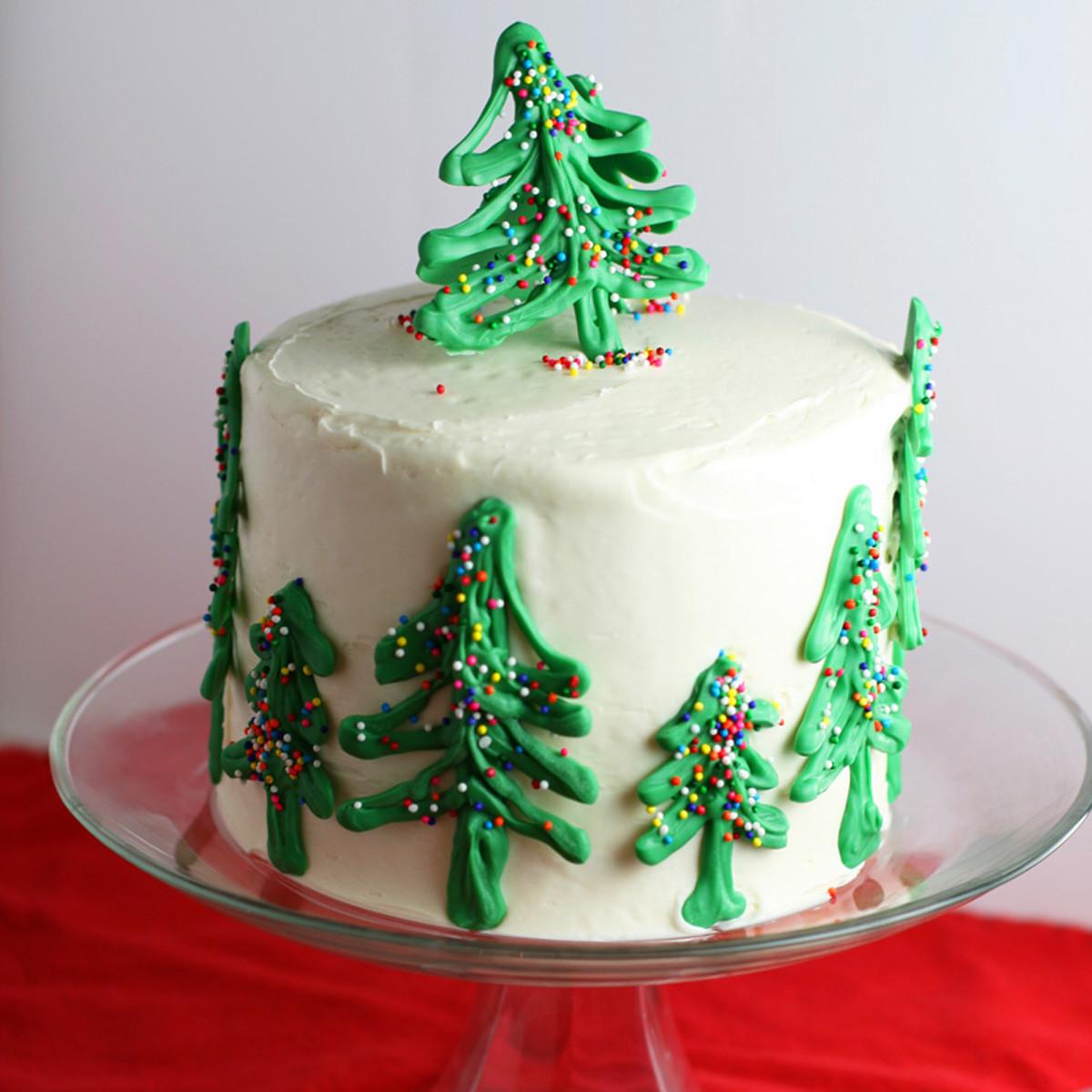Chocolate Christmas Cake  Chocolate Christmas Tree Cake Mom Loves Baking