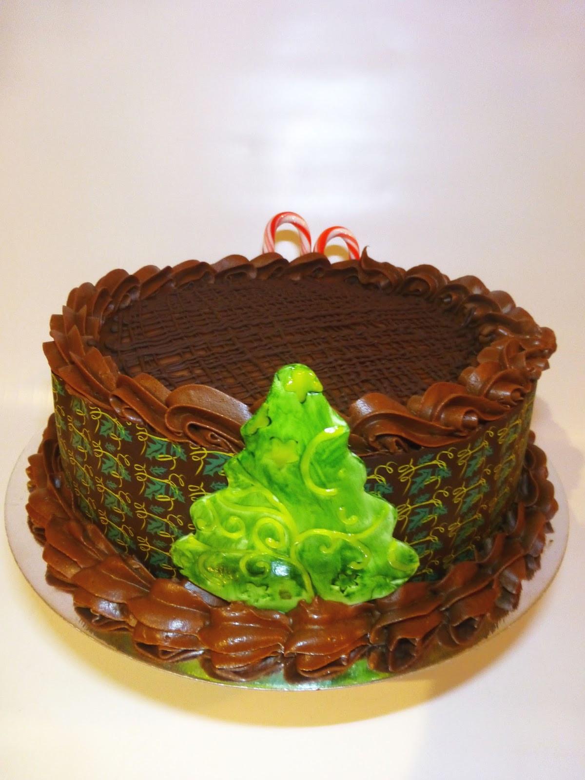 Chocolate Christmas Cake  CakeSophia Chocolate Christmas cake