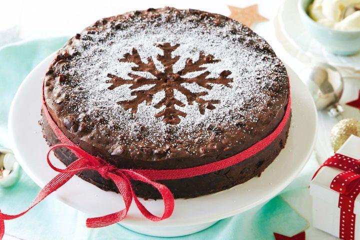 Chocolate Christmas Cake  Spiced chocolate Christmas cake
