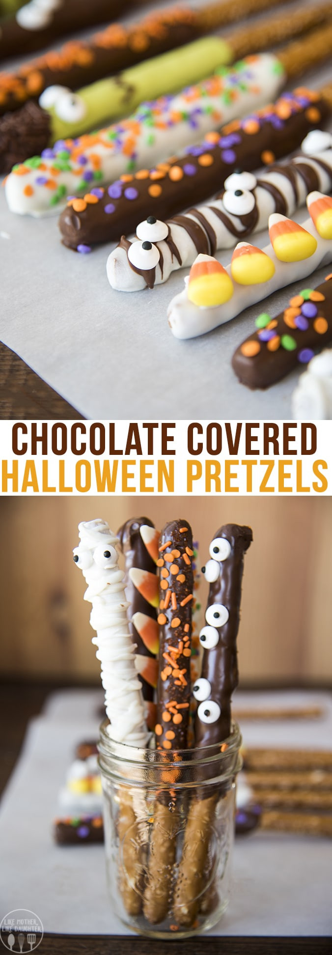 Chocolate Dipped Pretzels For Halloween  Chocolate Covered Halloween Pretzels – Like Mother Like