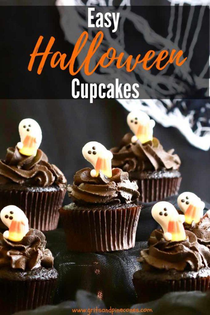 Chocolate Halloween Cupcakes  Chocolate Halloween Cupcakes and Icing