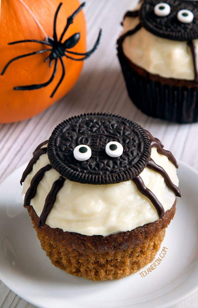 Chocolate Halloween Cupcakes  Spider Cupcakes for Halloween gluten free grain free