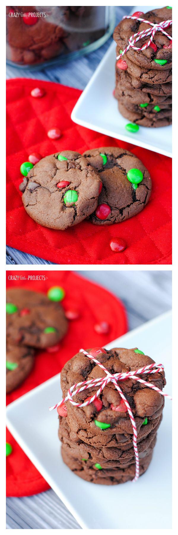 Chocolate Mint Christmas Cookies  Double Chocolate Mint Cookies for Christmas Crazy Little