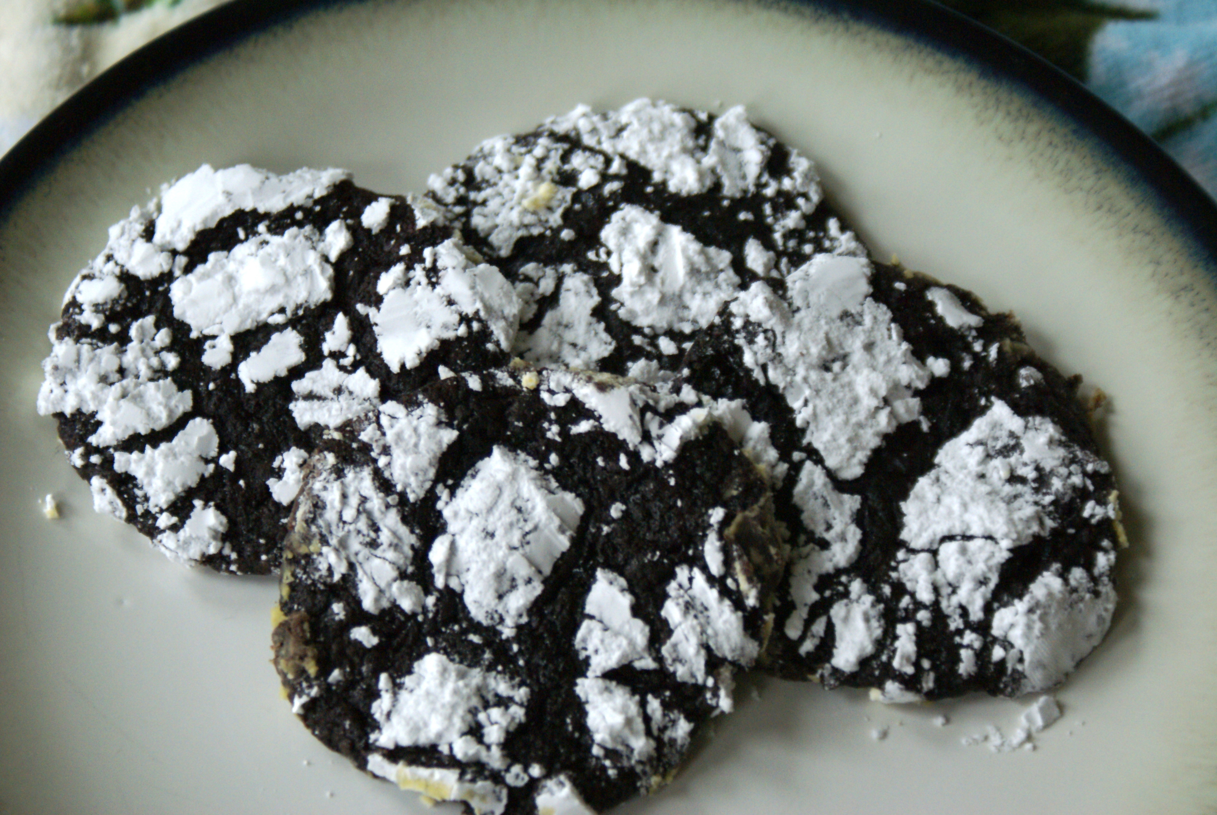 Chocolate Mint Christmas Cookies  12 Days of Christmas Cookies 2 Chocolate Mint Crinkles