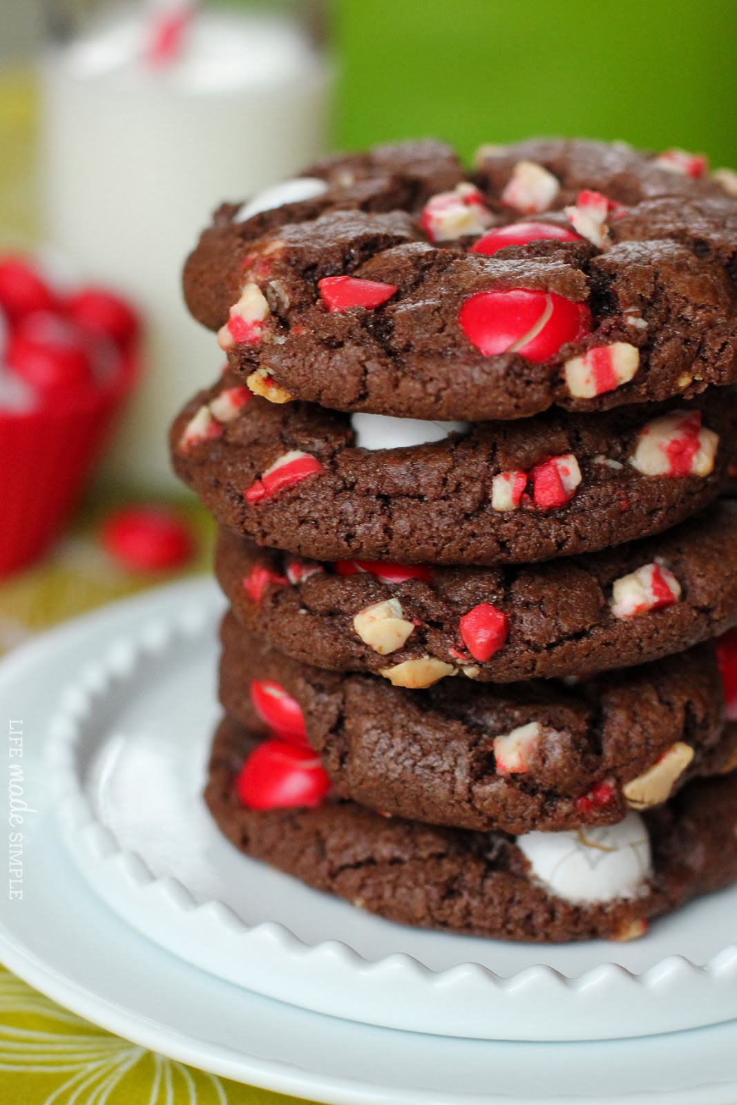 Chocolate Mint Christmas Cookies  Chocolate Peppermint M&M Cookies Life Made Simple