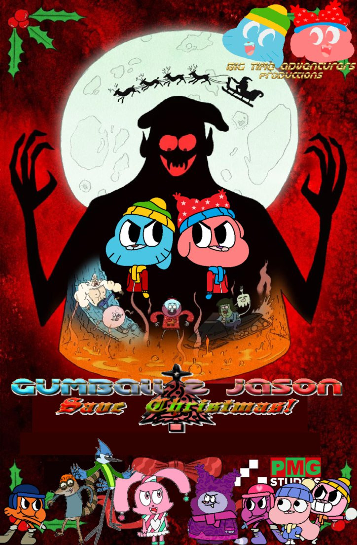 Chowder Christmas Special  Gumball and Jason Save Xmas Tribute Poster by edalhoff345