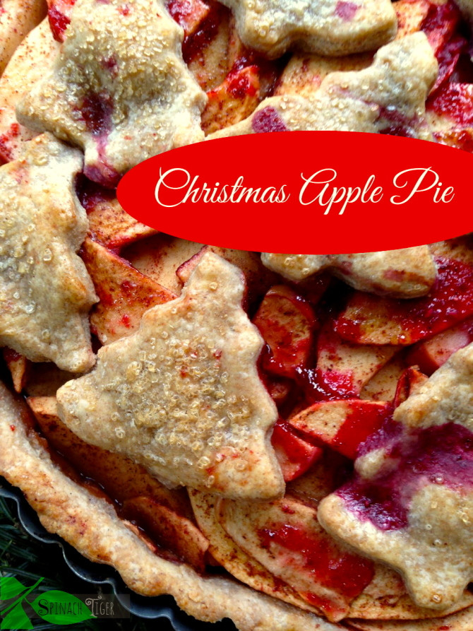 Christmas Apple Pie  Apple Pie from Scratch Spinach Tiger