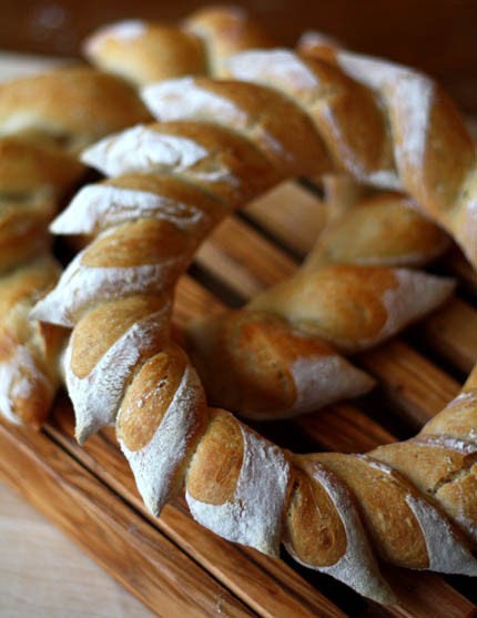 Christmas Bread Wreath  Holiday Wreath Bread Artisan Bread in Five Minutes a Day