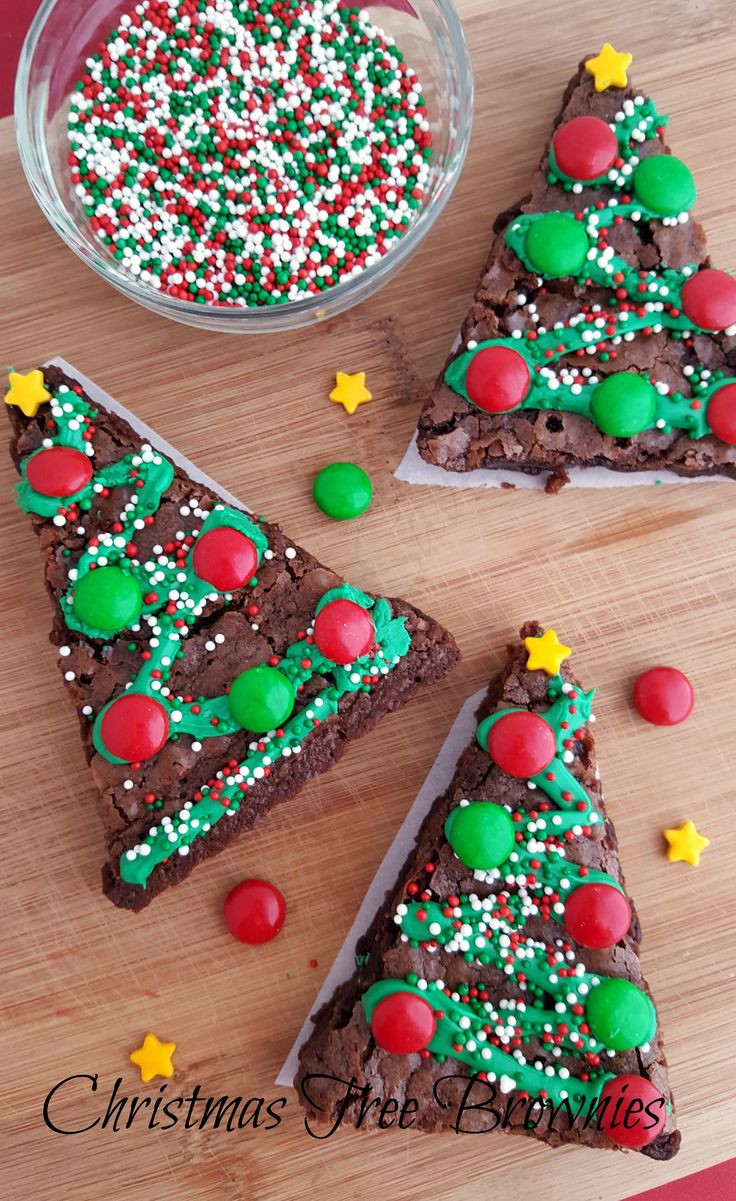 Christmas Brownies Ideas  1000 ideas about Christmas Tree Cupcakes on Pinterest