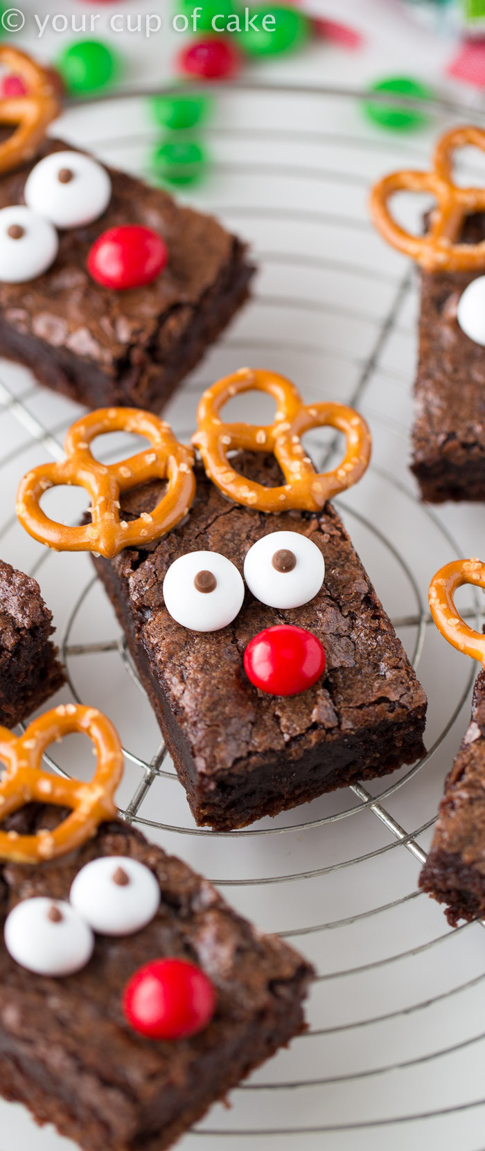 Christmas Brownies Ideas  Easy Rudolph Brownies Your Cup of Cake