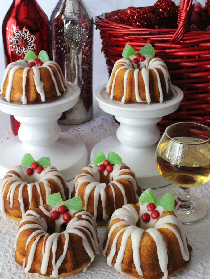 Christmas Bundt Cake  Christmas Mini Bundt Cakes Two Sisters
