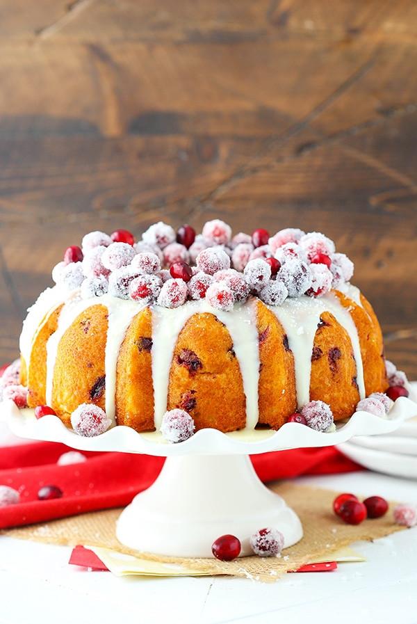 Christmas Bunt Cakes  Sparkling Cranberry White Chocolate Bundt Cake Life Love