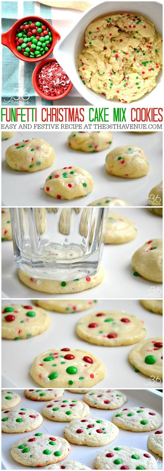 Christmas Cake Cookies  Funfetti Christmas Cake Cookies s and