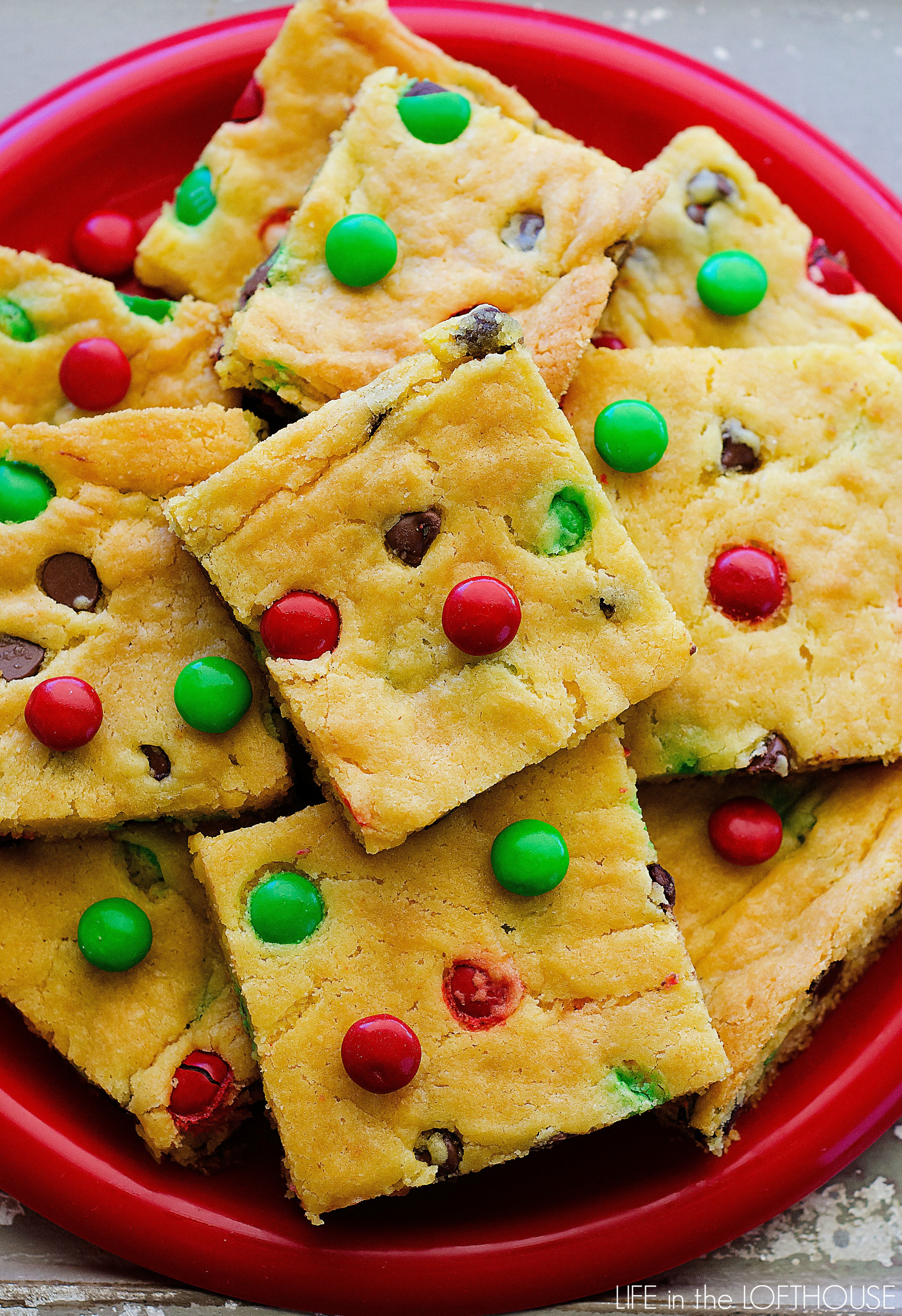 Christmas Cake Cookies  Cake Mix Cookie Bars Life In The Lofthouse