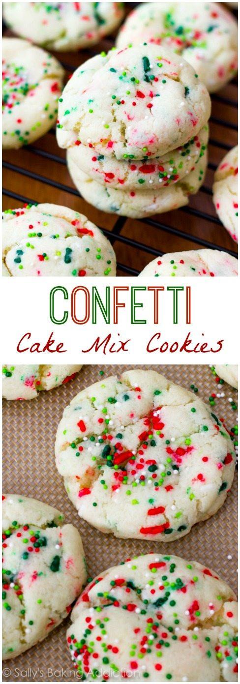 Christmas Cake Cookies  pillsbury funfetti cake cookies recipe