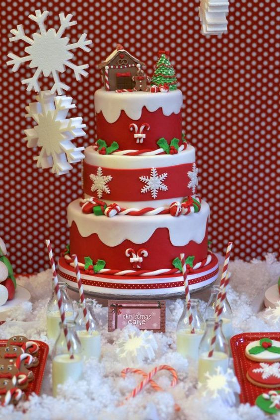 Christmas Cakes Pinterest  Christmas cakes Cakes and Christmas on Pinterest