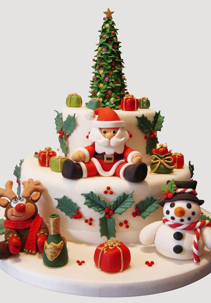 Christmas Cakes Pinterest  1000 ideas about Fondant Christmas Cake on Pinterest