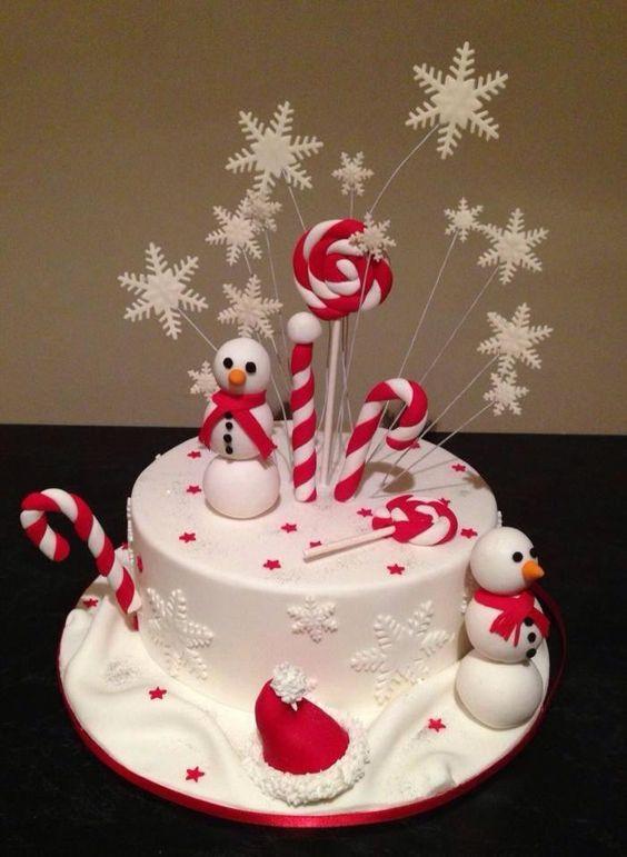 Christmas Cakes Pinterest  Christmas cake photo 2017