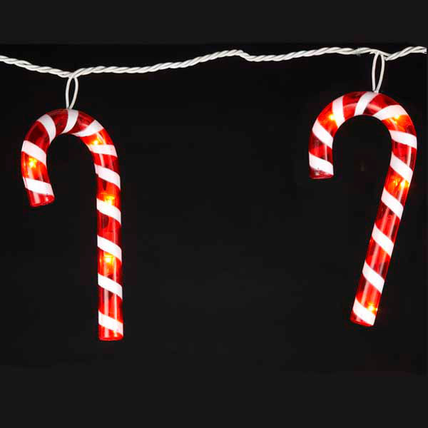 Christmas Candy Cane Lights  Christmas Novelty Lights Oogalights More Than