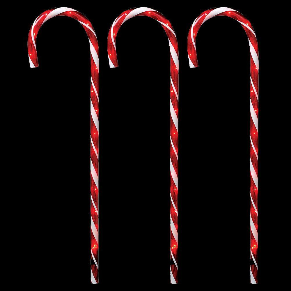 Christmas Candy Cane Lights  Home Accents Holiday 27 in Lighted Candy Canes Set of 3