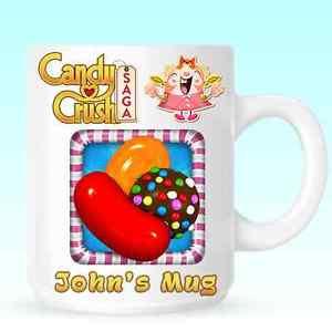 Christmas Candy Crush  Candy Crush Saga Personalised Mug Cup Christmas Birthday