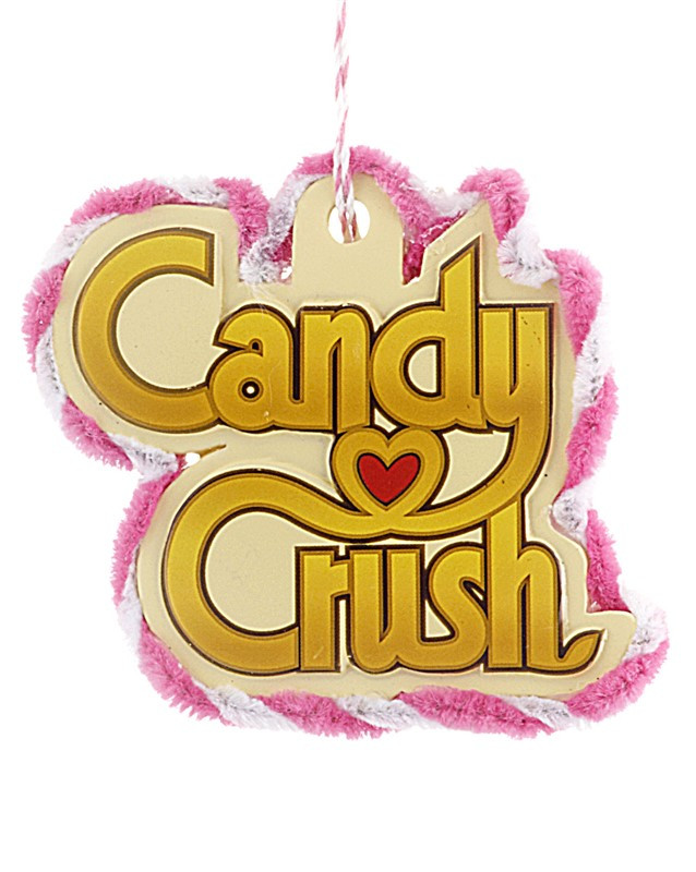 Christmas Candy Crush  Candy Crush Game Logo Personalized Christmas Ornament