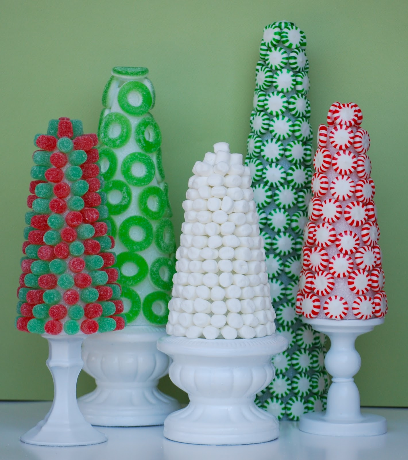 Christmas Candy Decorations  Christmas Candy Trees Amanda Jane Brown