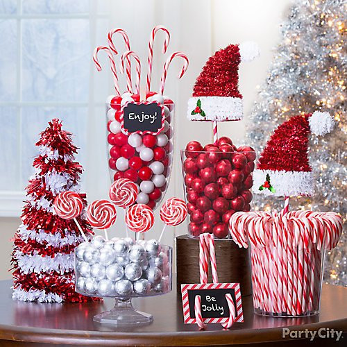 Christmas Candy Decorations  Candy Cane Christmas Decorations