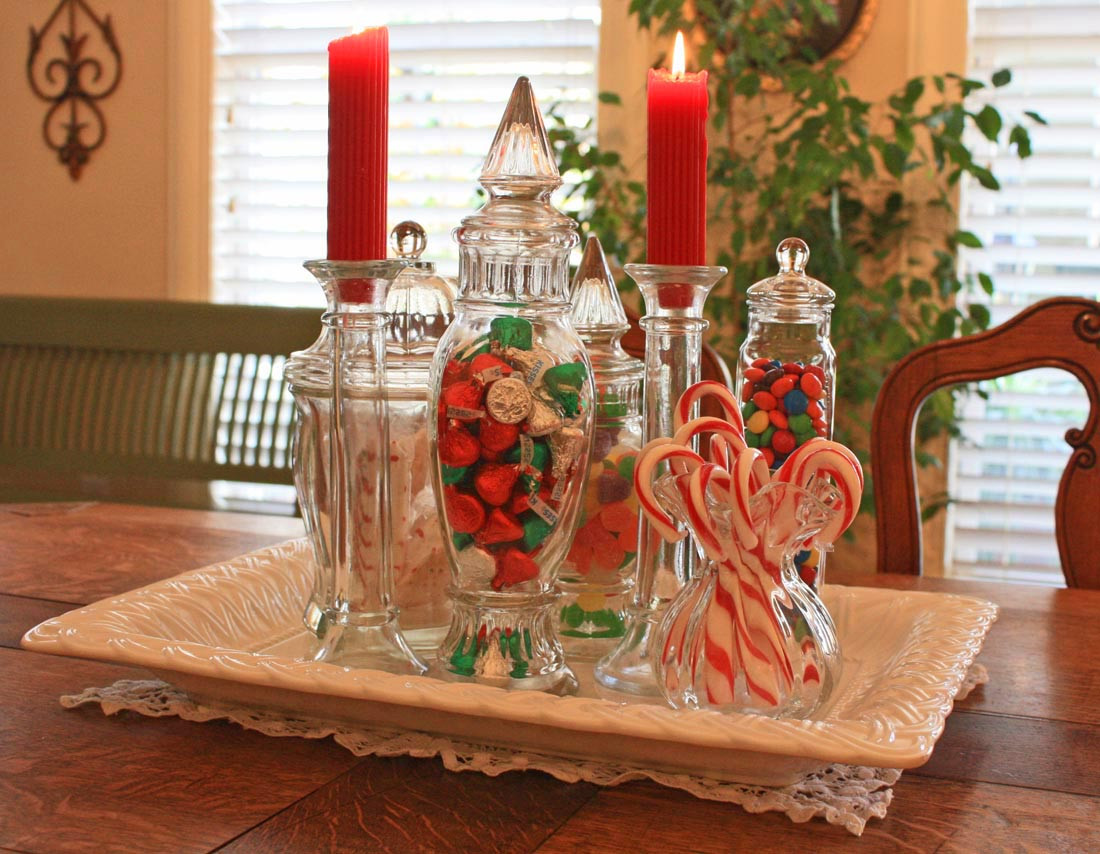 Christmas Candy Decorations  Southern Lagniappe A Christmas Candy Centerpiece