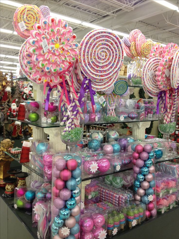 Christmas Candy Decorations  Candy land Christmas items to purchase Bebe Love