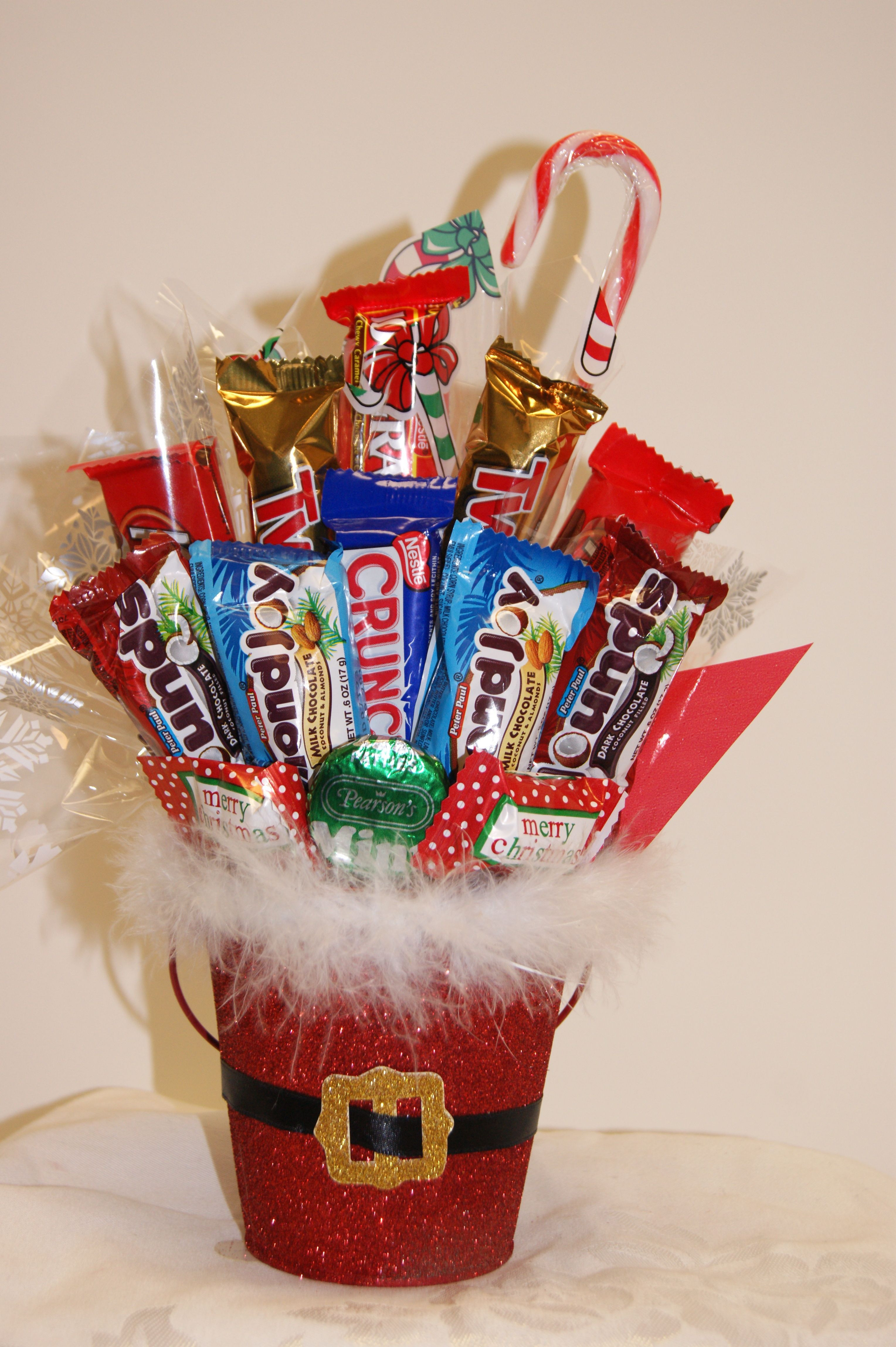 Christmas Candy Favors  christmas candy bouquets