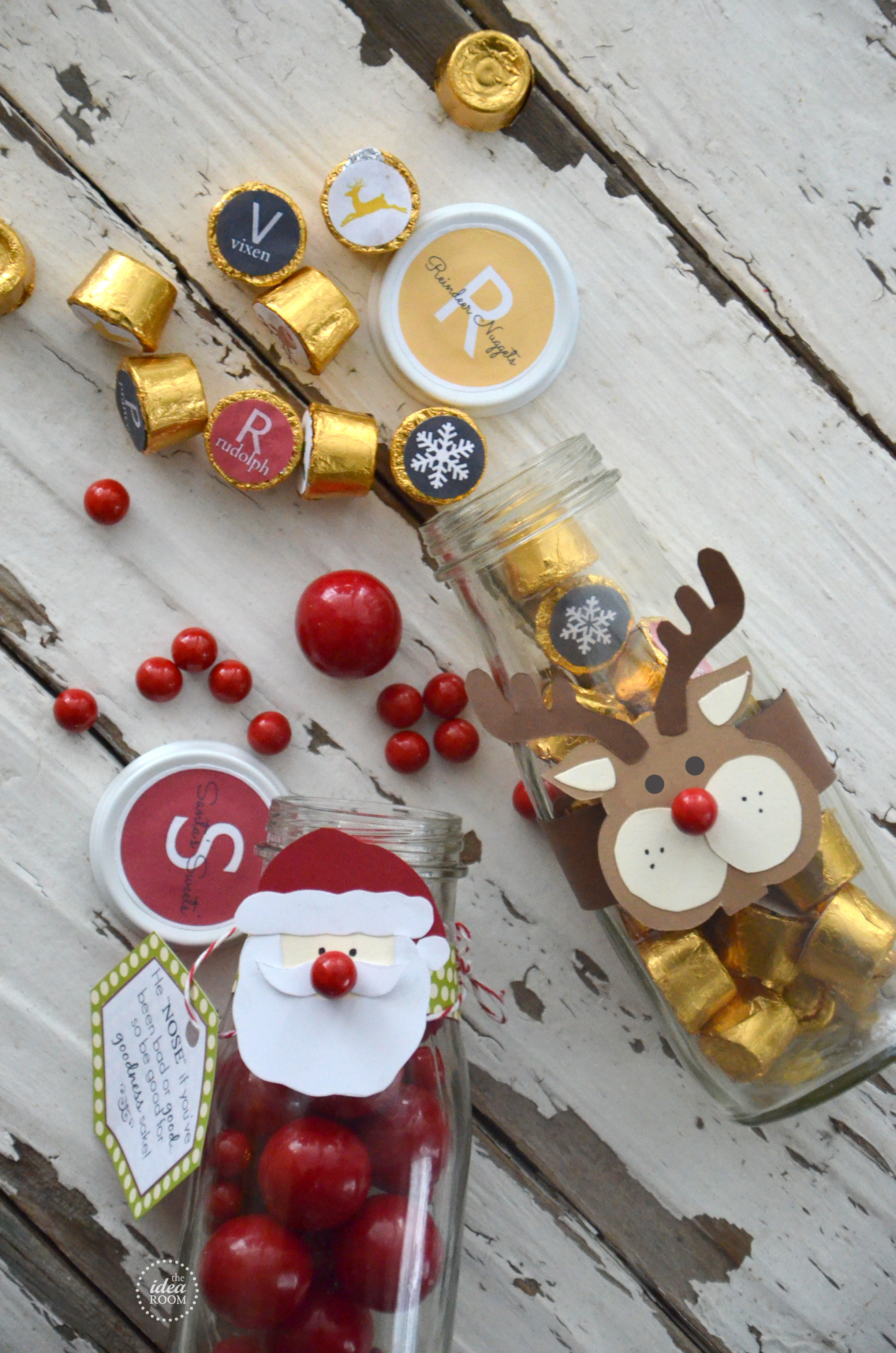 Christmas Candy Favors  Christmas Candy Gift The Idea Room