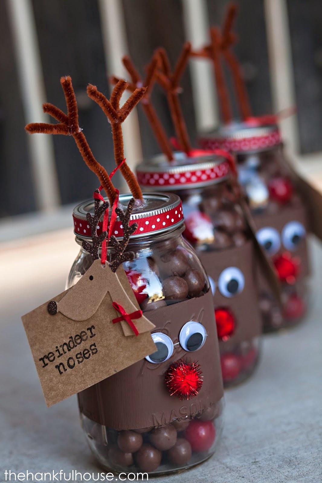 Christmas Candy Favors  Christmas Mason Jar Gifts
