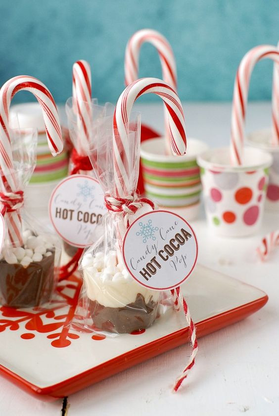 Christmas Candy Favors  Candy Cane Hot Cocoa Pops Recipe