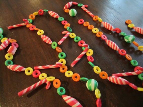 Christmas Candy Garland  Vintage Christmas Candy Garland 9 feet