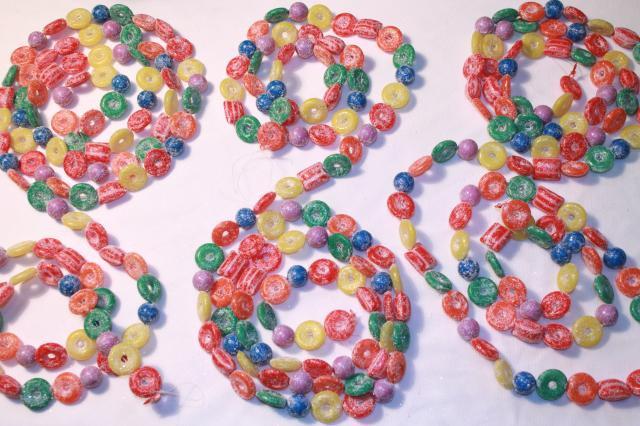 Christmas Candy Garland  glitter plastic candy Christmas garland & stars kitschy