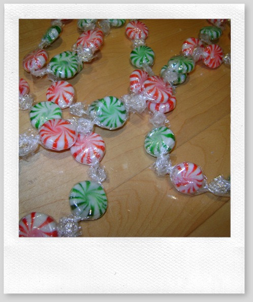 Christmas Candy Garland  Dollar Store DIY –Christmas Candy Garland Life is a Party