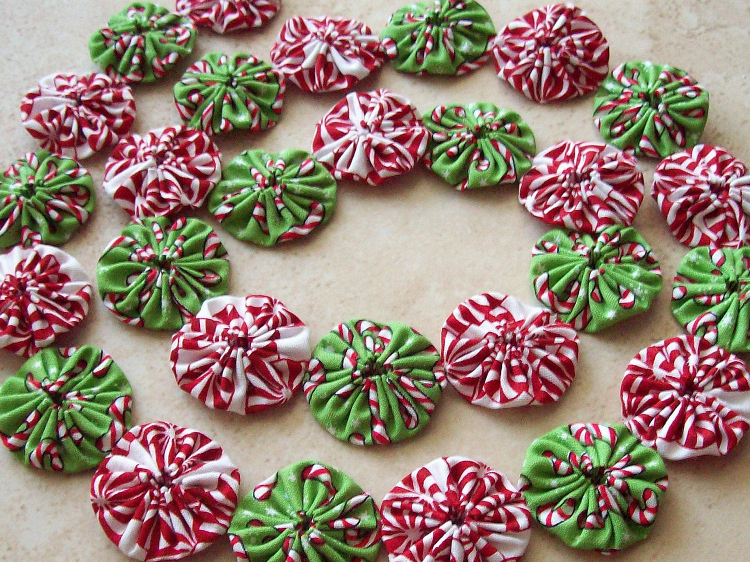 Christmas Candy Garland  Christmas Candy Canes and Peppermint Mini YOYO Garland