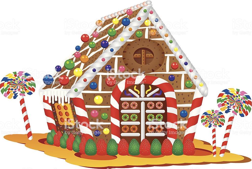 Christmas Candy House  Christmas Candy House stock vector art