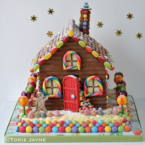 Christmas Candy House  Handmade chocolate house recipe by Torie Jayne