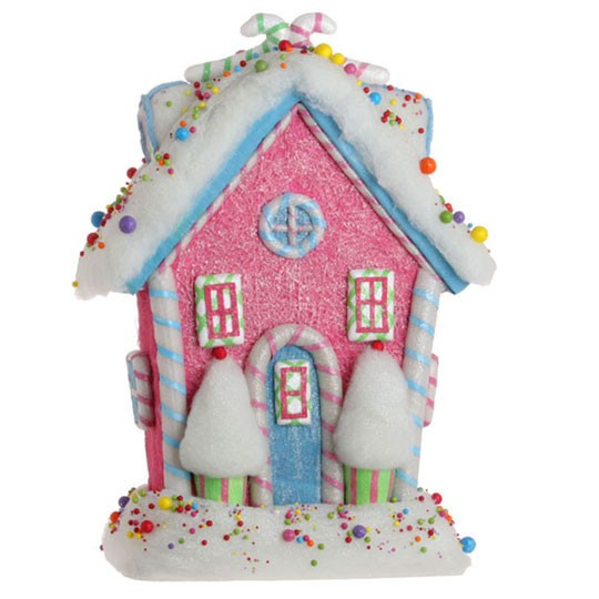 Christmas Candy House  NEW RAZ 19 5 in Candy Gingerbread House green Christmas