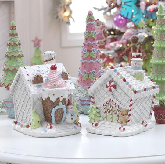 Christmas Candy House  RAZ Christmas at Shelley B Home and Holiday Iced