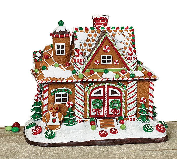 Christmas Candy House  Details about Gingerbread Christmas House Candy Brown